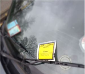 parking ticket issued for disable driver on the A30 slip road